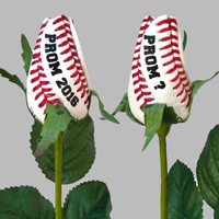 Prom Baseball Rose Flower Boutonniere Corsage - Baseball Themed Gifts