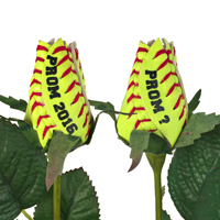 Prom Softball Rose Flower Boutonniere Corsage - Softball Themed Gifts_THUMBNAIL