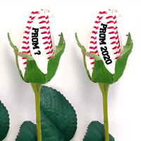 Prom Baseball Rose Flower Boutonniere Corsage - Baseball Themed Gifts THUMBNAIL