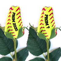 Prom Softball Rose Flower Boutonniere Corsage - Softball Themed Gifts THUMBNAIL