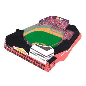 Boston Red Sox Fenway Park 3D Ballpark Scrapbook Sticker MAIN