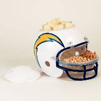 Los Angeles Chargers Snack Helmet Vase Planter THUMBNAIL