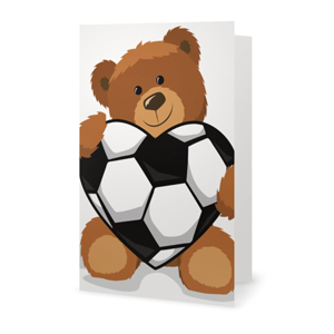 Valentine's Day Soccer Heart Greeting Card MAIN