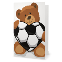 Valentine's Day Soccer Heart Greeting Card THUMBNAIL