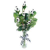 Soccer Rose Vase Arrangement - Great basketball gift for home or office THUMBNAIL