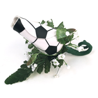 Soccer Rose Boutonnieres for Soccer themed weddings, prom, homecoming THUMBNAIL