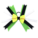 Softball Hair Bow -Lime Green Black SWATCH