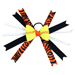 Softball Hair Bow - Black Orange Zebra SWATCH
