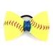Softball Hair Bow - Blue Sparkle SWATCH