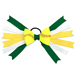 Softball Hair Bow - Green Yellow Polka Dot_SWATCH