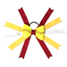Softball Hair Bow - Maroon Yellow Polka Dots SWATCH