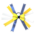 Softball Hair Bow - Yellow Blue White Chevrons SWATCH