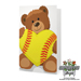 Softball Rose & Sports Bear Gift Set SWATCH