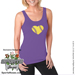 Baseball Heart Ladies Jersey Tank Shirt SWATCH