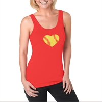 Softball Heart Women's Jersey Tank Top Shirt THUMBNAIL