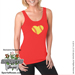 Baseball Heart Ladies Jersey Tank Shirt_SWATCH