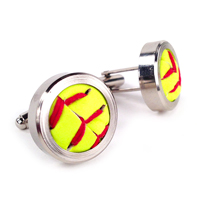 Softball Themed Cufflinks_THUMBNAIL