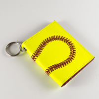 Premium Leather Softball Mini Wallet THUMBNAIL
