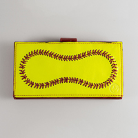 Premium Leather Softball Women's Wallet THUMBNAIL