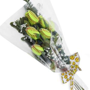 Softball Rose Home Run Bouquet (6 Roses) MAIN