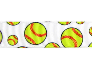 Softball Ribbon Grosgrain (1 yard) MAIN
