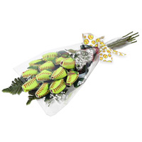 "Softball Rose ""Grand Slam"" Bouquet - 12 Softball Roses THUMBNAIL"