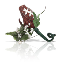 Football Rose Boutonnieres for football themed weddings, prom, homecoming THUMBNAIL