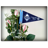Baseball Gifts|Tampa Bay Rays Flower Arrangements and Gifts