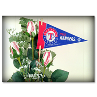 Baseball Gifts|Texas Rangers Flower Arrangements and Gifts