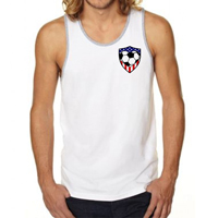 USA Soccer Heart Men's Tank Top THUMBNAIL