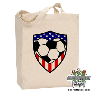 USA Soccer Heart Canvas Tote Bag MAIN