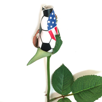 Soccer Rose Long Stem - Soccer Themed Gifts THUMBNAIL