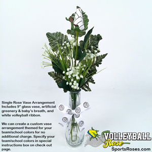Volleyball Rose Vase Arrangement_MAIN
