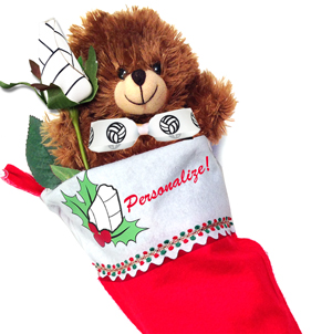 Volleyball Rose Christmas Stocking Stuffer Gift Set MAIN