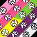 Volleyball Ribbon Grosgrain (1 yard) SWATCH