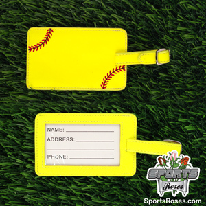 Yellow Softball Luggage Tag MAIN