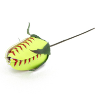 Softball Rose Corsage Stem - Customize your own boutonnieres and corsages THUMBNAIL