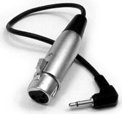 Hosa 5 ft.  XVM XLR Female to 3.5 mm Connecter