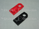 1015 Side Post Battery Bolt Covers for GM Battery / 1 Red; 1 Black THUMBNAIL