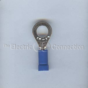"3236 Vinyl Insulated 1/4"" Ring Terminal / 14-16 Ga. / 25/pkg."