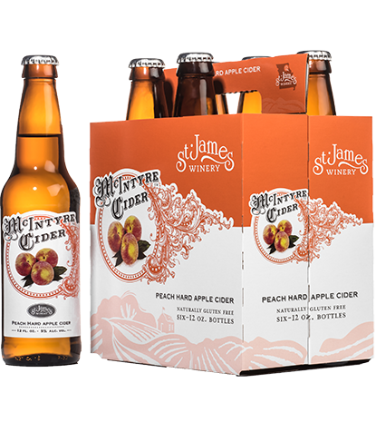 McIntyre Cider Peach Hard Apple 6-pack MAIN