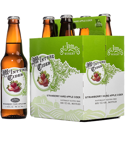 McIntyre Cider Strawberry Hard Apple 6 pack MAIN