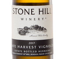 2017 Stone Hill Winery Late Harvest Vignoles THUMBNAIL