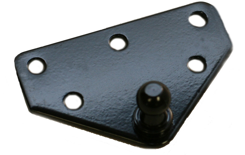 P67-00205 Black E-Coat Ball Bracket LARGE
