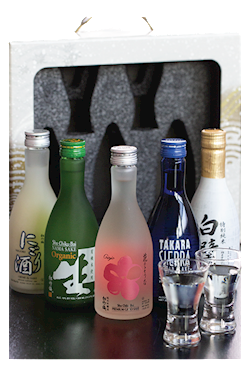 Pick Your Own Sake Set, 300ml sake x 3 with 2 cold sake glasses THUMBNAIL