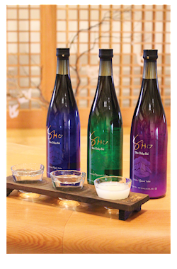 Sho Chiku Bai SHO Tasting Flight Set, 3 types of SHO and SCB original 3 glass flight set THUMBNAIL