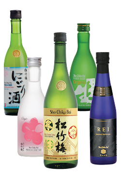Virtual Sake Tasting Variety Set, Sho Chiku Bai, Made in USA THUMBNAIL