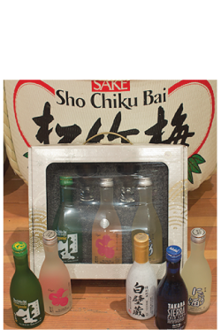 """Pick Your Own Set"" > 300ml SAKE x 3 with 2 cold sake glasses THUMBNAIL"