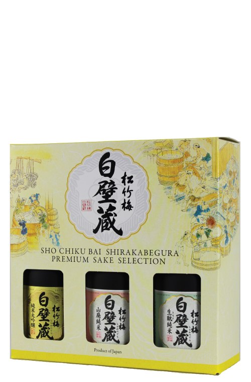 SHO CHIKU BAI SHIRAKABEGURA>Premium Sake Selection, 300ml x 3 MAIN