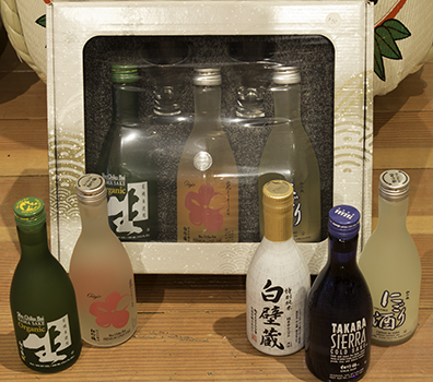 """Pick Your Own Set"" > 300ml SAKE x 3 with 2 cold sake glasses MAIN"